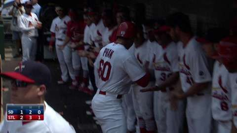 Pham hits two-run shot for first career homer... 07-05-15