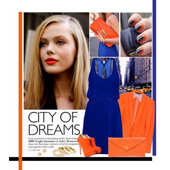 """New York Street Style""  כתום וכחול מי ידע שזה יפה כל כך"