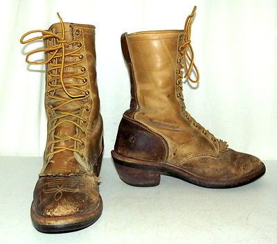 Chippewa-Lace-Up-Cowboy-Boots-Mens-size-9-EE-womens-10-5-wide ...