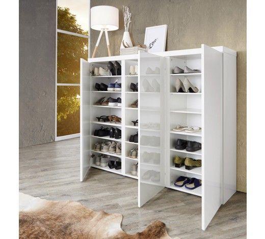 Schuhschrank Hochglanz Lackiert Weiss Hausdekoeingangsbereich With Images Shoe Cabinet Storage Home Interior Design