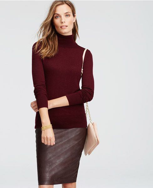 Plum Tall Everyday Turtleneck Outfit #3