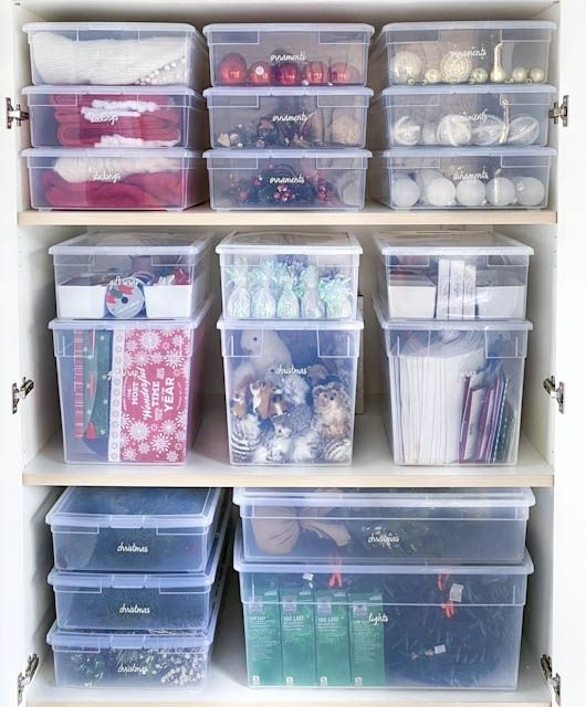 Fashion Look Featuring Container Store Home Living By Thehomeedit Shopstyle In 2021 Storage Room Organization Storage Bins Organization The Home Edit