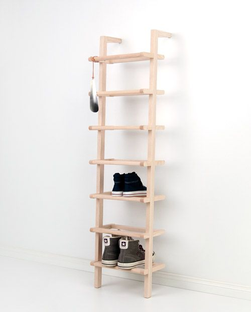 Large Lean On Shoe Rack Made Of Ash Mit Bildern Diy Schuhregal Schuhregal Schuhregal Diy