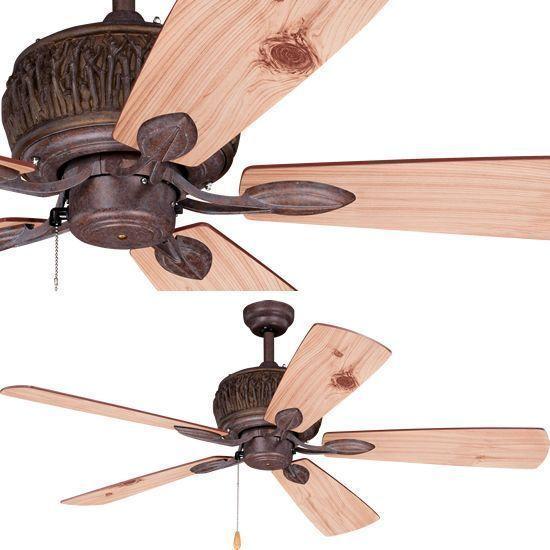 Vaxcel F0049 Rustic Alpine Porch Fan Rustic Outdoor Ceiling Fans
