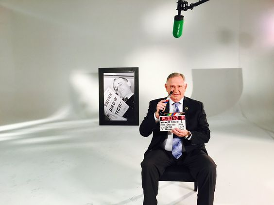 J.B. Hill, grandson of Napoleon Hill, posing on the set of Think and Grow Rich The Movie. Learn more at http://thinkthelegacy.com/ #ThinkandGrowRich #NapoleonHill