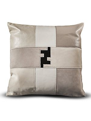Fendi Casa Patchwork Fendi Logo Pillow Interiors