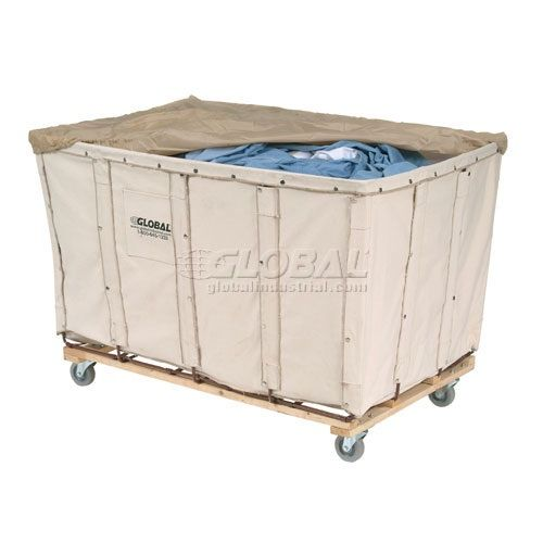 Steel frame commercial laundry cart