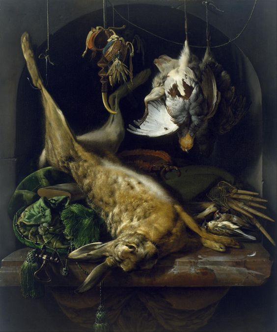 Imagem de https://upload.wikimedia.org/wikipedia/commons/b/b8/Jan_Weenix_-_Still_Life_of_a_Dead_Hare,_Partridges,_and_Other_Birds_in_a_Niche_-_Google_Art_Project.jpg.