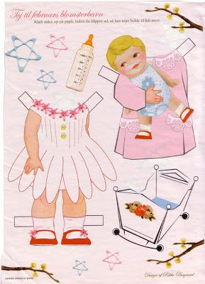Paper Dolls: Girls flowering