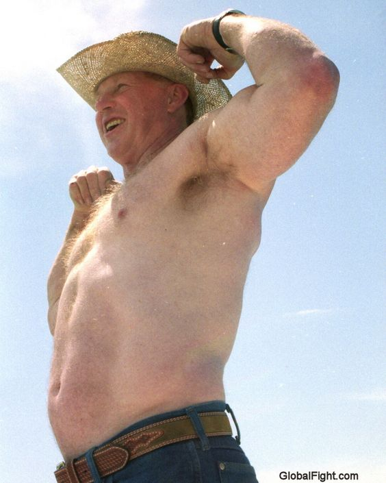hot older cowboy man hairy daddy gay muscle bears pinterest