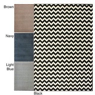 Black Chevron Rug - Just ordered this for the office/playroom/gym!