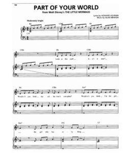 PIANO DISNEY MUSIC FREE SHEET
