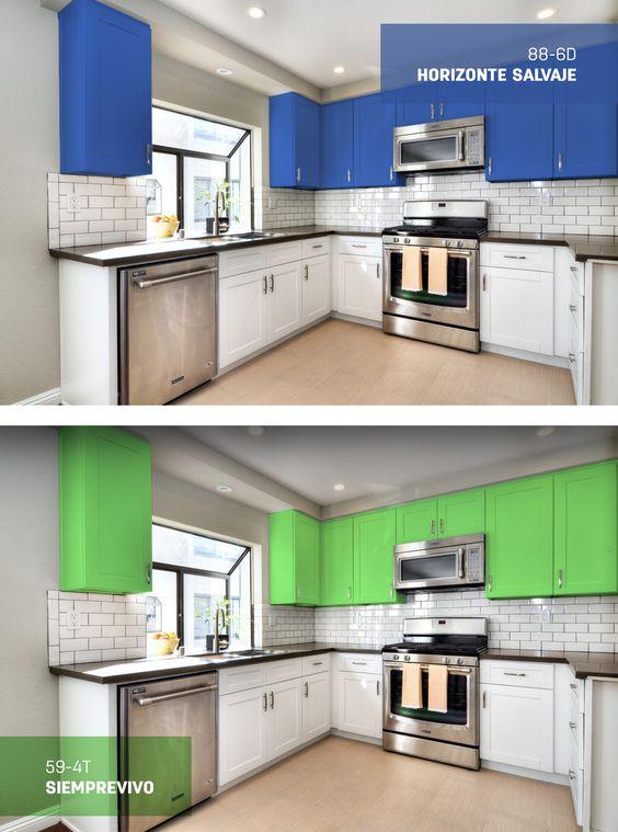 pintar los gabinetes de tu cocina es una gran forma de On formas de pintar una cocina