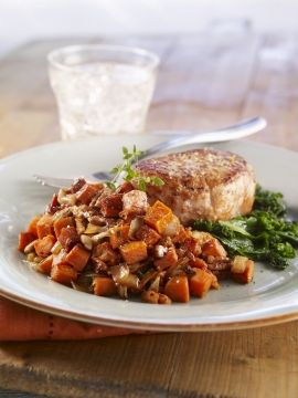 Sweet Potato Hash Browns with Vidalia® Onions & Georgia Pecans