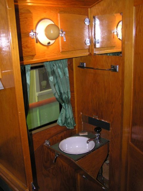 Covered wagon sinks and look at on pinterest for Travel trailer bathroom sinks