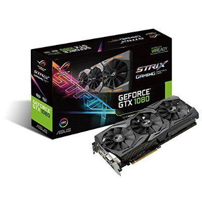 Asus ROG Strix-GTX1080-O8G-Gaming Nvidia Grafikkarte (PCIe 3.0, 8GB GDDR5X Speicher, HDMI, DVI, DisplayPort)