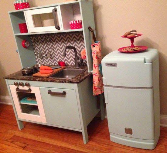 Ikea kinderküche kühlschrank  mommo design: IKEA PLAY KITCHEN MAKEOVERS | DIY play kitchen ...