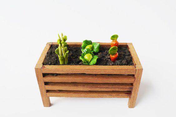 12 Mix Gemüse Miniatur / Miniatur Gartenzubehör / von poplaucard