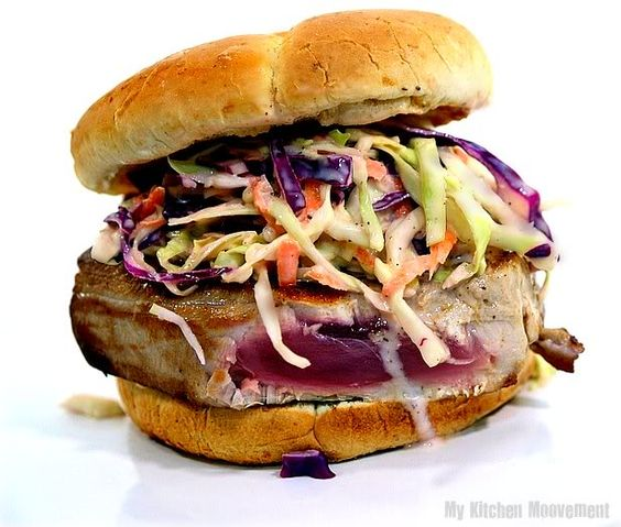 Dinosaur BBQ Coleslaw by mykitchenmoovement: Try it on grilled ahi!