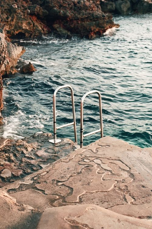 Ladder to the sea.