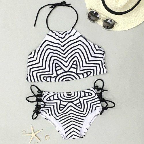Cupshe Trip Out Striped Funny Bikini Set