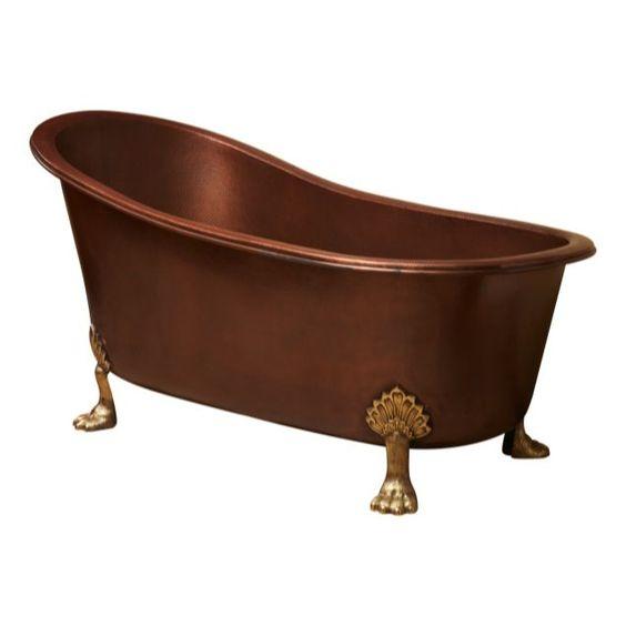 Viviene Copper Bath  Copper Bath with Copper Feet  67x32x34  $6,499