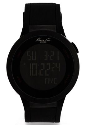 This sporty and extremely cool watch from Kenneth Cole is the ultimate choice for the young and active. Features a digital display with touch screen technology, 32-city world time, and back light function. Lightweight rubber strap with water resistance makes it perfect for the outdoors.