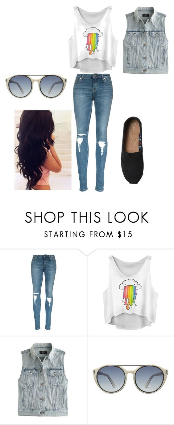 """""""Sunglass day"""" by princess-floral-8 ❤ liked on Polyvore featuring J.Crew, Tom Ford, TOMS and Perfection Beauty"""