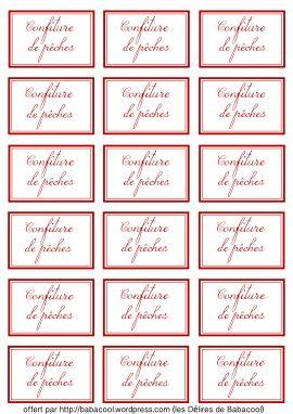 Souvent Etiquettes à confitures et bien plus !!! | A imprimer : Etiquettes  QD72