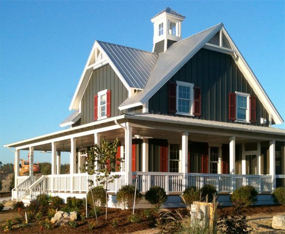 Wrap around porches wraps and house on pinterest for Country house with wrap around porch