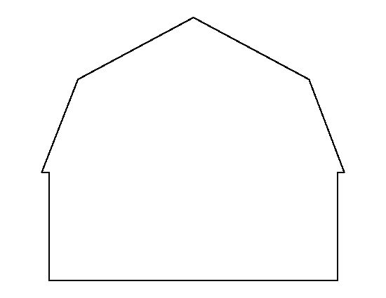 Barn pattern Use the printable outline for crafts, creating - blank outline template