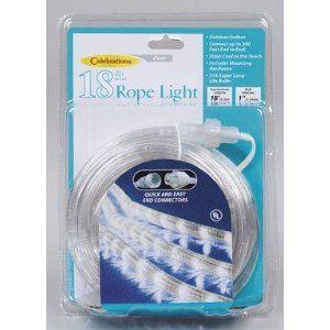 #8: Celebrations Indoor/Outdoor Rope Lights 18', Clear