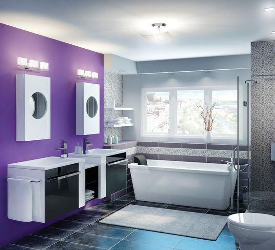 The rona colour used for this contemporary style bathroom for Rona salle de bain