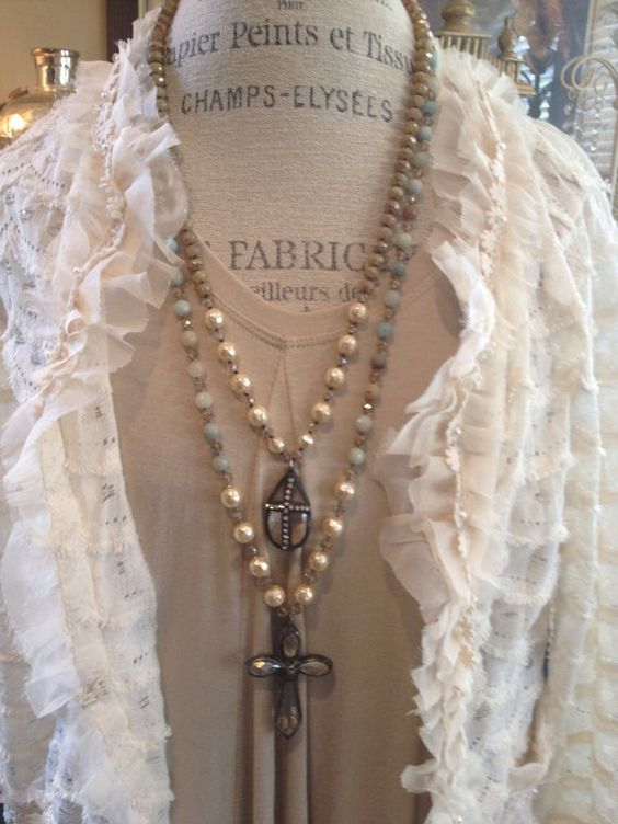 BoHo shabby chic Bohême glam Handspun collier par MarleeLovesRoxy