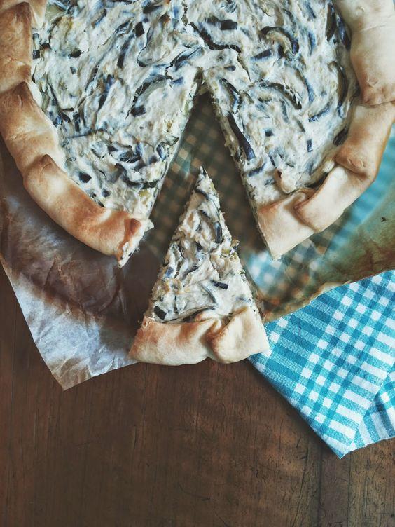 Tè verde e pasticcini: { Riciclo } - Torta brisèe con zucchine,ricotta vaccina e cotto