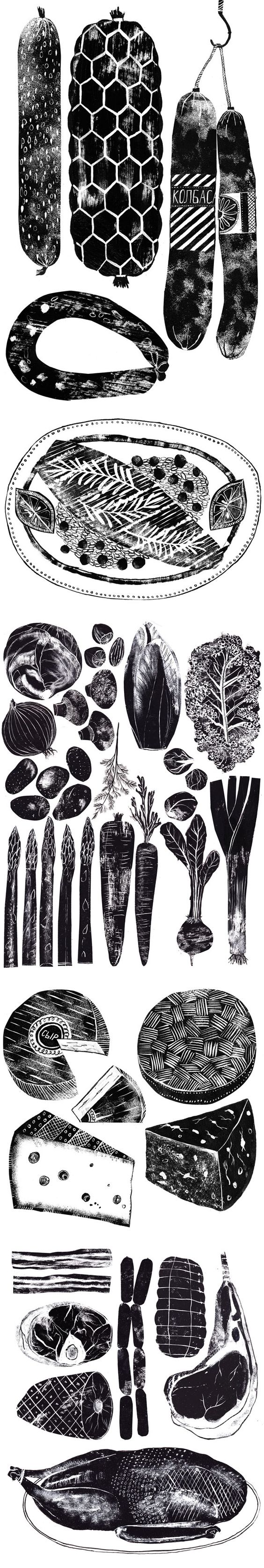 Food illustrations by Alice Pattullo. Share drawings of your favourite foodstuff for this years Big Draw by AccessArt (http://www.accessart.org.uk/join-drawmydinner-years-big-draw-accessart/). This is a group board so please email info@accessart.org.uk with your pinterest username so we can invite you to join!