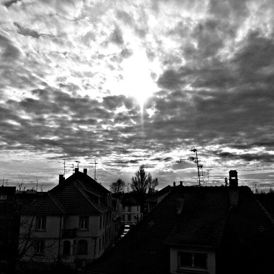 Ce photo a été réalisée à Schiltigheim, Alsace en noir et blanc sans filtre.