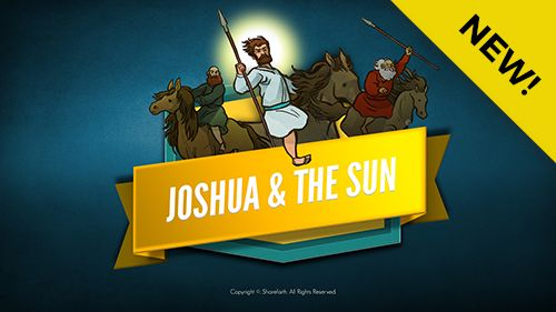 Joshua 10 Sun Stand Still Kids Bible Lesson: Sun Stand Still (Joshua 10:1-15). This kids Bible story begins with Joshua coming to the aid of the Gibeonites who found themselves under attack. Confident of victory, Joshua prayed to God asking for the sun to stand still giving Joshua's forces time to complete the victory.