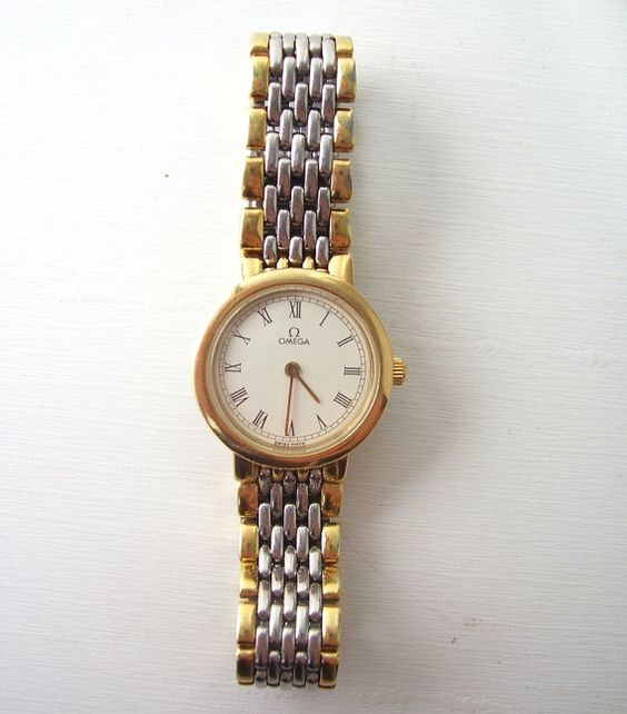 vintage omega wrist womens 18k