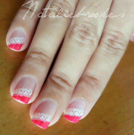 Pink French Manicure, Neon And French Manicures On Pinterest
