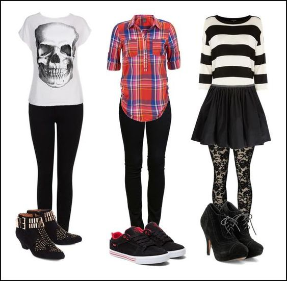 outfits rockeros mujer ,
