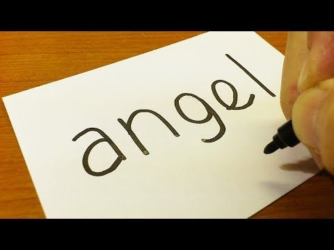 Very easy ! how to turn words angel into a cartoon for kids how to