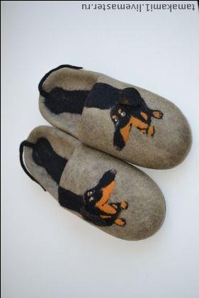 """Обувь ручной работы. Ярмарка Мастеров - ручная работа. Купить Тапочки мужские """"Мой длинный друг""""  (работу больше не повторяю). Handmade.:"""