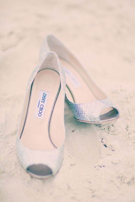Jimmy Choos by the sea shore