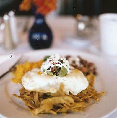 delish dish from Camilo's Bistro! - Chilaquilles
