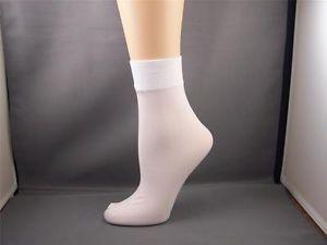 white  Dress Socks | ... White womens SHORT nylon spandex bootie boot ankle trouser dress socks