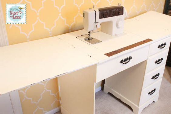 Cool How to on Nest for less to make this sewing table from an old desk!: Old Desks, Desk Makeover, Sewing Tables, Repurposed Upcycled, Annie Sloan Chalk Paint