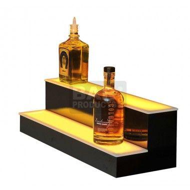 Liquor Bottle Display - Multicolor Lights - 2 Step