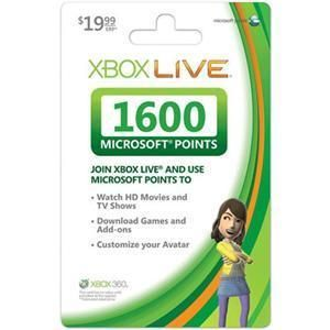 New Microsoft Points Card (1600 Points)
