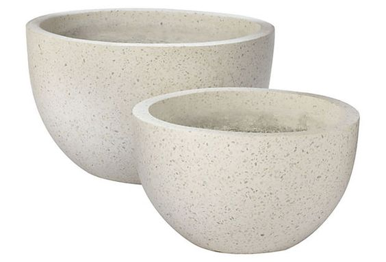 Blanco Terrazzo Pots